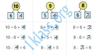 Математика 1 класс рабочая тетрадь Моро 2 часть страница 14 ответ
