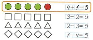 Математика 1 класс рабочая тетрадь Моро 1 часть страница 15 номер 1