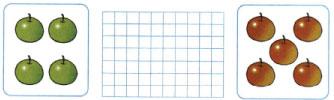 Математика 1 класс рабочая тетрадь Моро 1 часть страница 19 номер 1