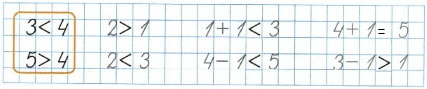 Ответ по Математике 1 класс рабочая тетрадь Моро 1 часть страница 19 номер 3