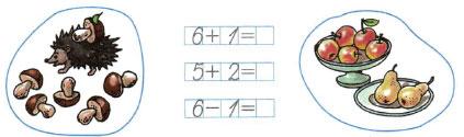 Математика 1 класс рабочая тетрадь Моро 1 часть страница 28 номер 1