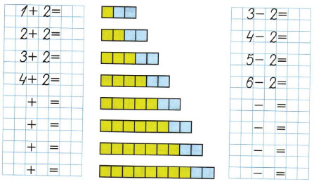 Математика 1 класс рабочая тетрадь Моро 1 часть страница 35 номер 3