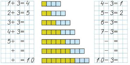 Математика 1 класс рабочая тетрадь Моро 1 часть страница 44 номер 1
