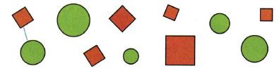 Математика 1 класс рабочая тетрадь Моро 1 часть страница 9 номер 1