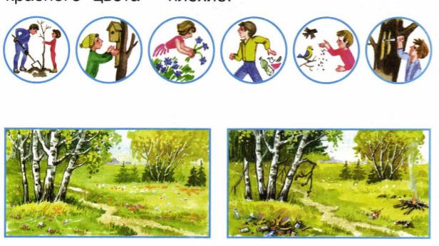 Окружающий мир 1 класс рабочая тетрадь Плешаков 2 часть страница 19
