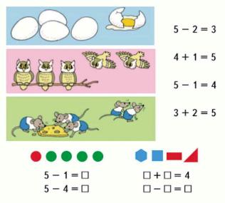 Математика 1 класс учебник Моро 1 часть страница 43 задание 1