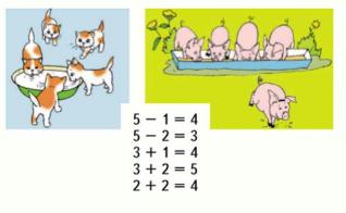 Математика 1 класс учебник Моро 1 часть страница 44 задание 1