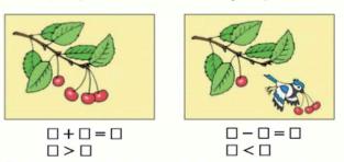 Математика 1 класс учебник Моро 1 часть страница 46 задание 3