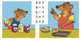 Математика 1 класс учебник Моро 1 часть страница 49 задание 3