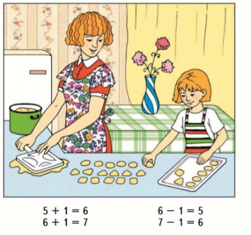 Математика 1 класс учебник Моро 1 часть страница 52 задание 1