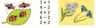 Математика 1 класс учебник Моро 1 часть страница 58 задание 3
