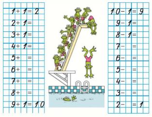 Математика 1 класс учебник Моро 1 часть страница 80 задание 1