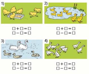 Математика 1 класс учебник Моро 1 часть страница 90 задание 1