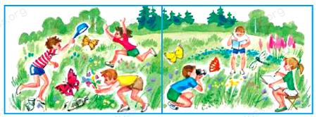 Окружающий мир 1 класс учебник Плешаков 2 часть стр 44-3